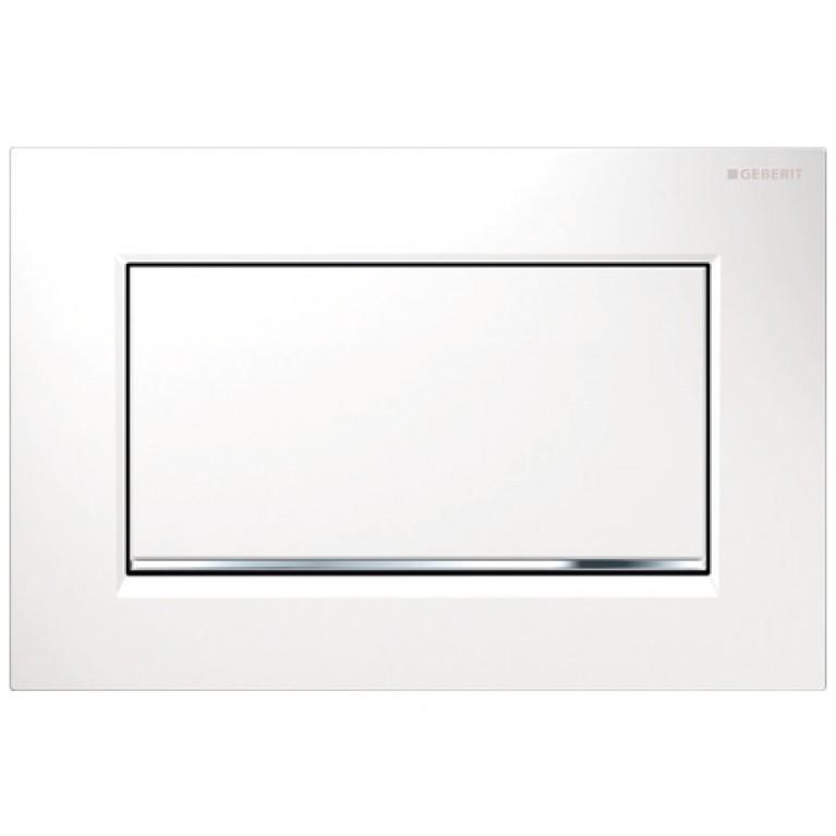 Sigma30 Смывная клавиша, с системой смыв/стоп, белый/хром глянцевый/белый