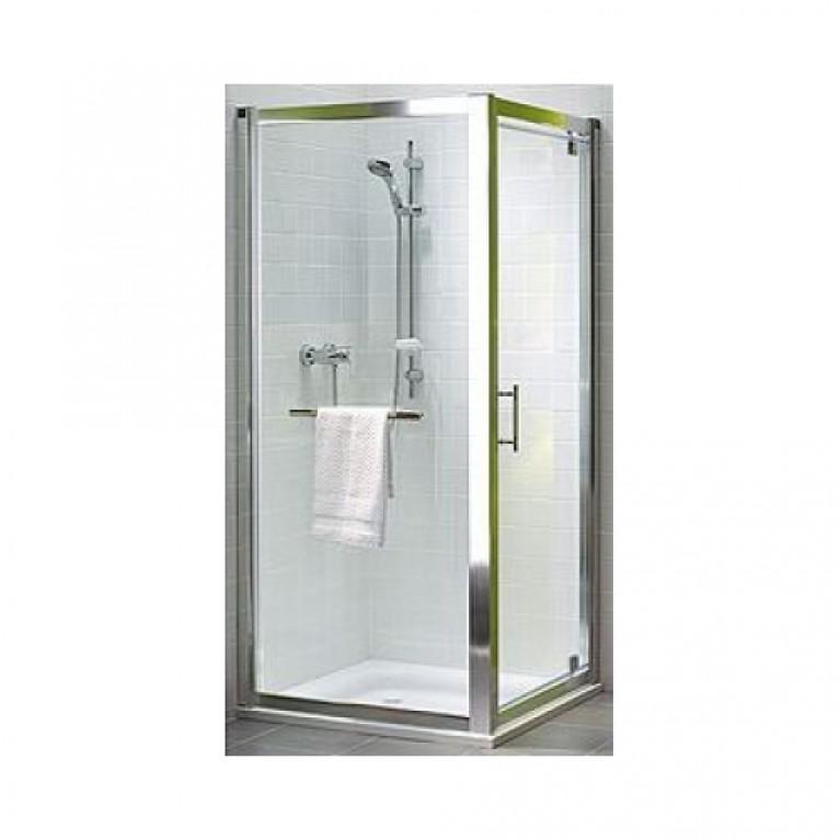 GEO 6 боковая стенка 80 см, для комплектации с раздвижными дверями Pilot и Bifold серебряный блеск, фото 1