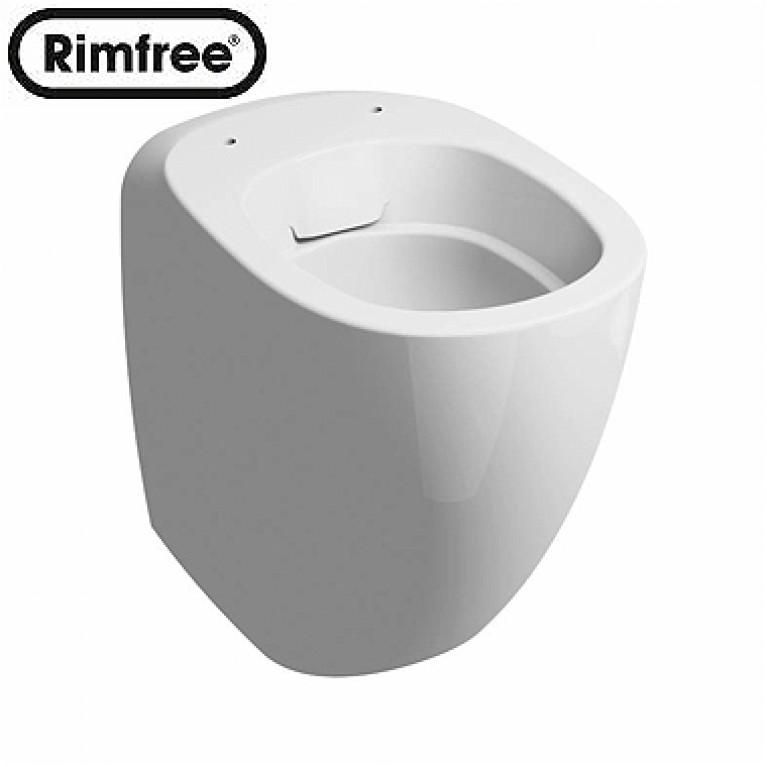 EGO унитаз напольный, Rimfree, с покрытием Reflex