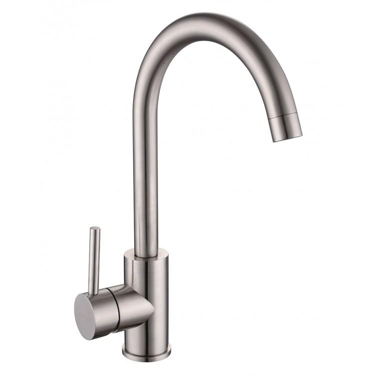 LOTTA смеситель для кухни 55401-SS,  сталь, 35 мм