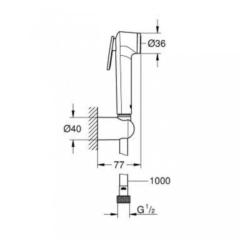 Tempesta-F Trigger Spray 30 Душевой набор с 1 режимом струи, хром 26352000, фото 2