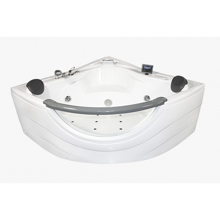 Ванна угловая с гидро-аэромассажем 1520*1520*710 мм, с окошком