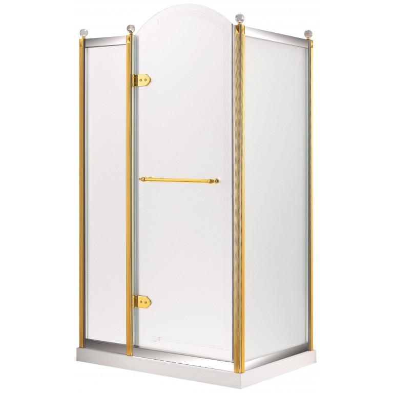 GRAND TENERIFE Combi Кабина с распашной дверью, в золоте/серебре, без поддона 1200*800*2000мм, левая, фото 1