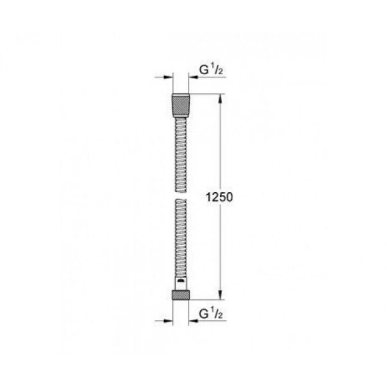 Шланг усиленный для душа (лейки биде) 1,2м (упаковка пластик) ST R47P, фото 2
