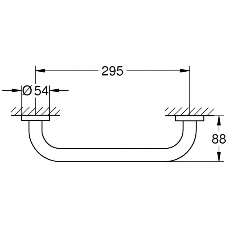 Essentials Neu Поручень для ванны, хром 40421001