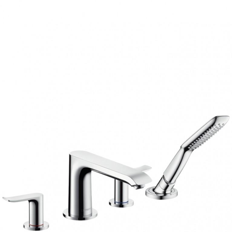 Metris Смеситель для ванны, двухвентильный, на 4 отверстия