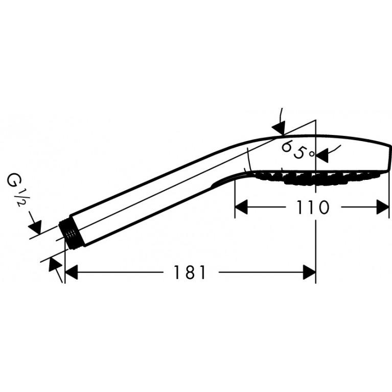 Croma Select E Multi Ручной душ, цв белый/хром + Metaflex``C Шланг душевой 1.60 м 26810400+28266000, фото 3