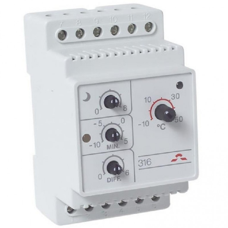 Терморегулятор DEVIreg 316, DIN 16А