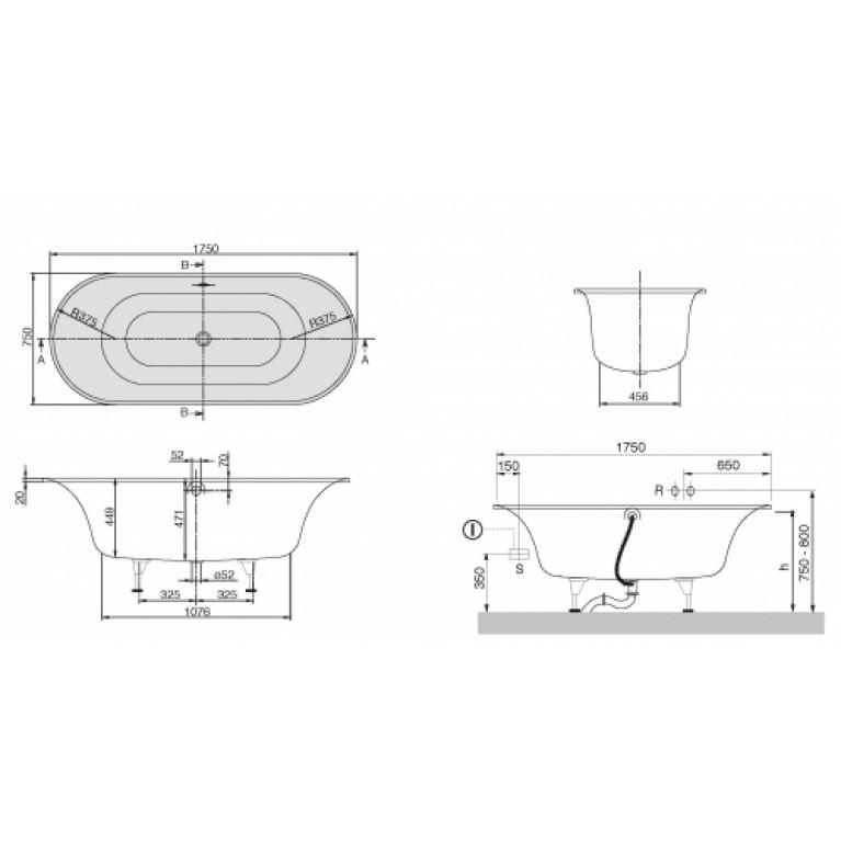 CETUS ванна 175*75см, фото 2