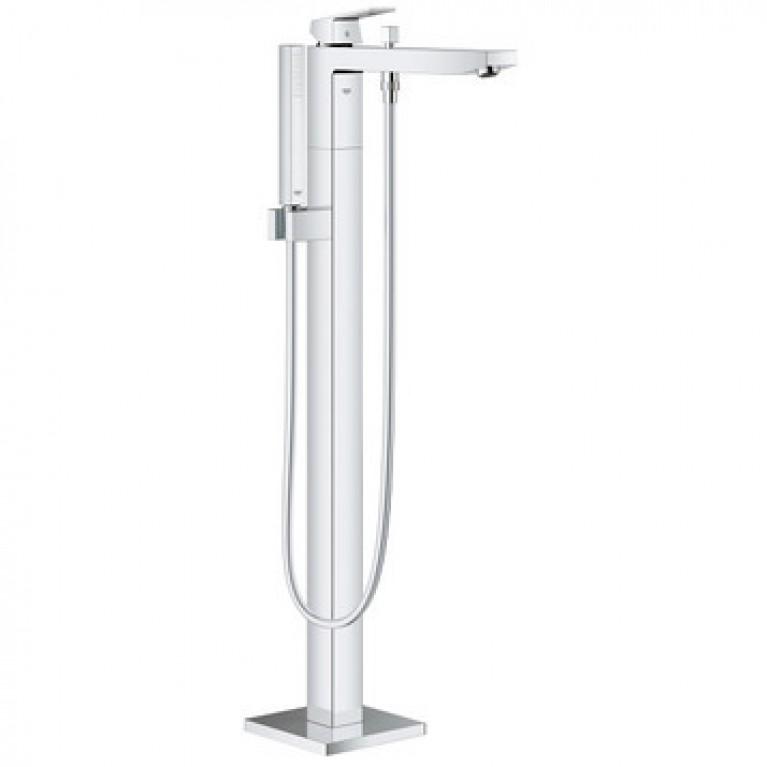 Eurocube Смеситель для ванны однорычажный, DN 15, напольный монтаж, хром