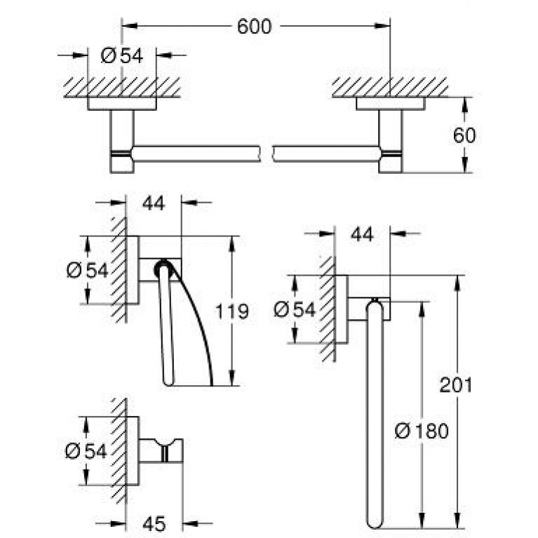 Essentials Набор аксессуаров 40776001