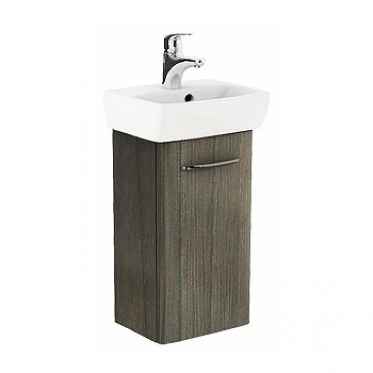 NOVA PRO комплект: умывальник 36см прямоугольный + шкафчик для умывальника, серый ясень