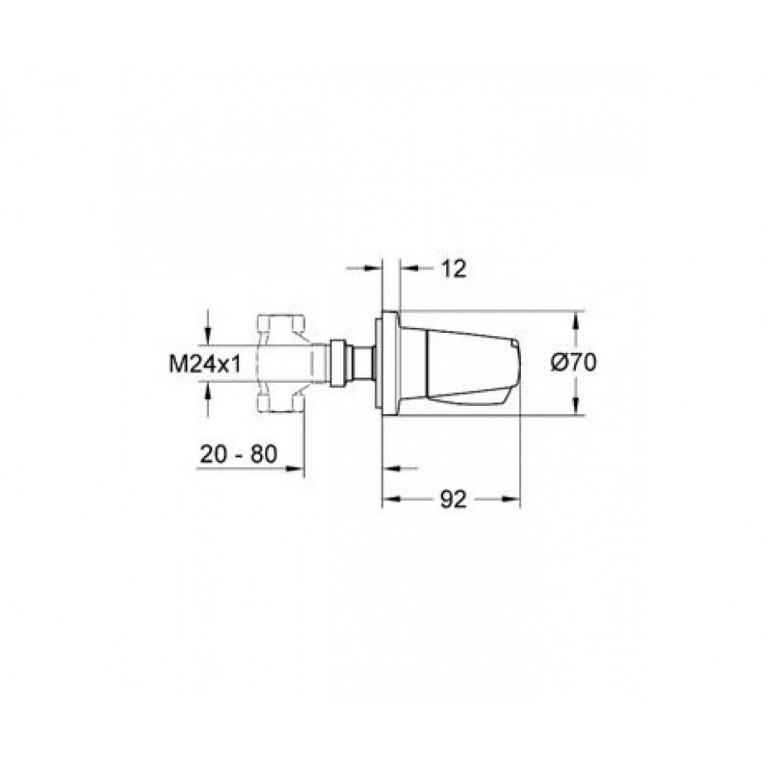 Chiara-накладная панель скрытой вентильной головки 19838000 19838000