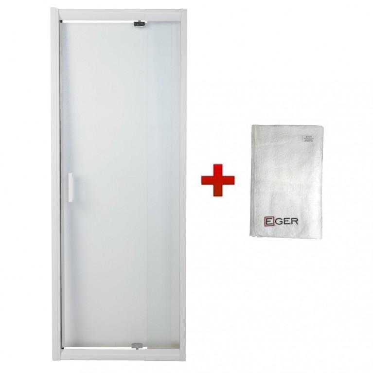 """Дверь в нишу распашная 70~80*185 см, профиль белый регулируемый, стекло """"Zuzmara"""" 5мм"""