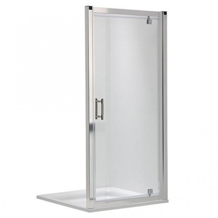 Купить GEO 6 двери pivot, 90 см, для комплектации с боковой стенкой GEO 6 профиль серебряный блеск у официального дилера KOLO Польша в Украине