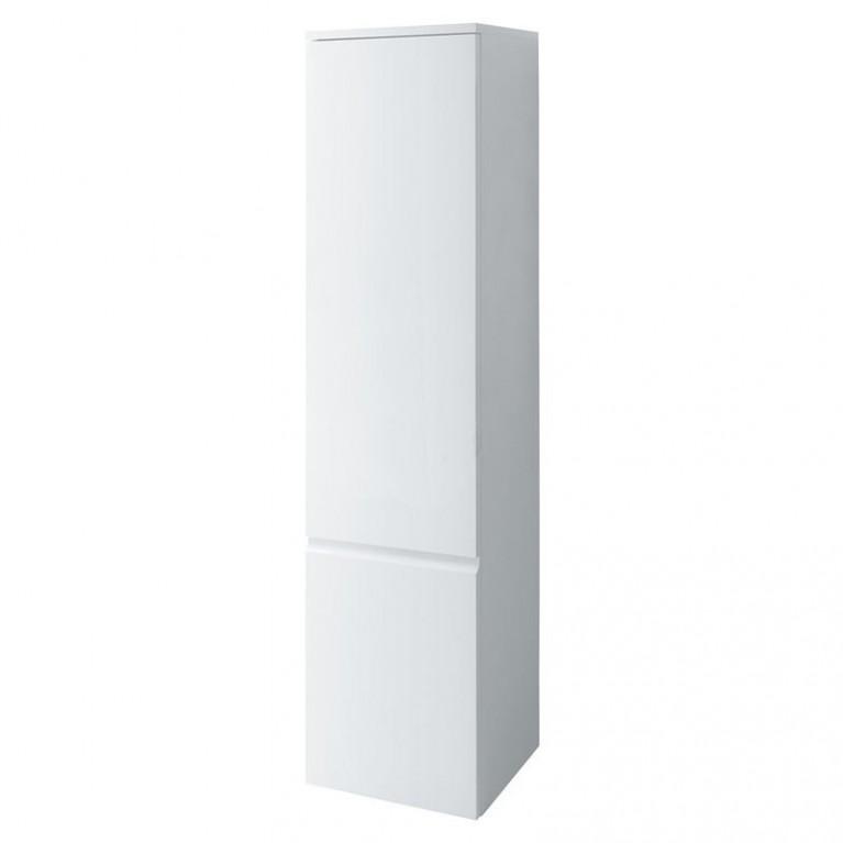 PRO S тумба 350*335*1650 высокая, подвесная, дверные петли слева, 4 стеклянные полочки, цвет белый глянец