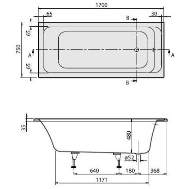 ARCHITECTURA ванна 170*75см, фото 2