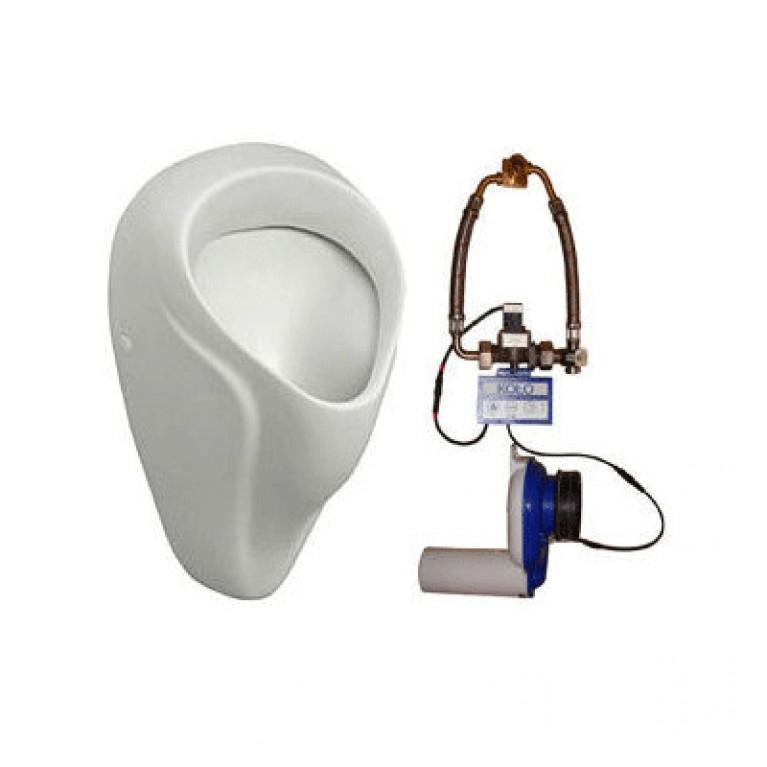 ALEX писсуарный комплект: писсуар 66000-000, сифон A99021, клапан сливной автомат.с элементом питания(пол.)