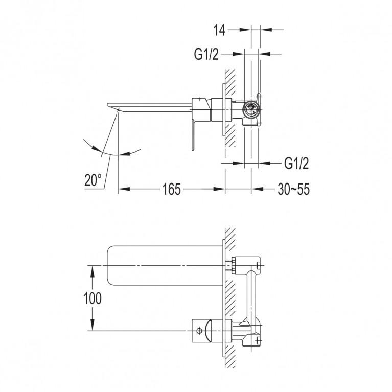 SMART CLICK смеситель для раковины, скрытый монтаж, хром ZMK101901030, фото 2