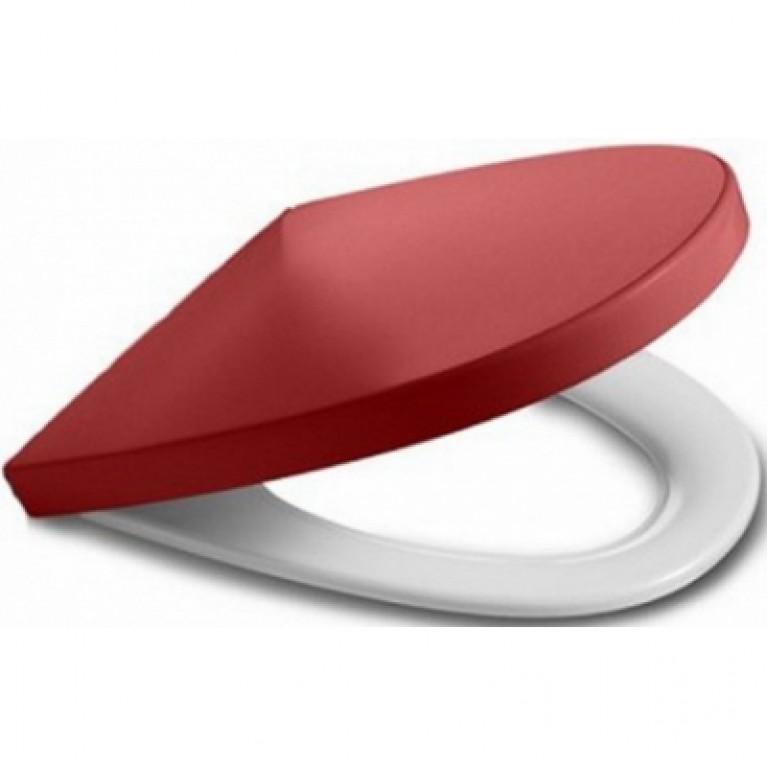KHROMA сиденье для унитаза (slow-closing) красное, фото 1