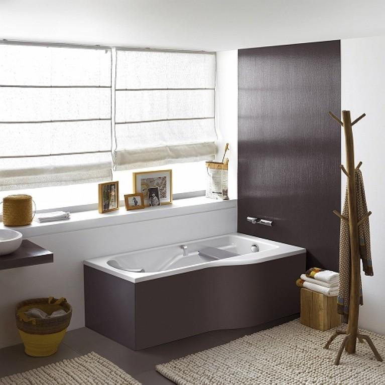 COMFORT PLUS ванна 180*80см с ручками (037376)без панели ( гидром. система эконом) HE1481000, фото 3