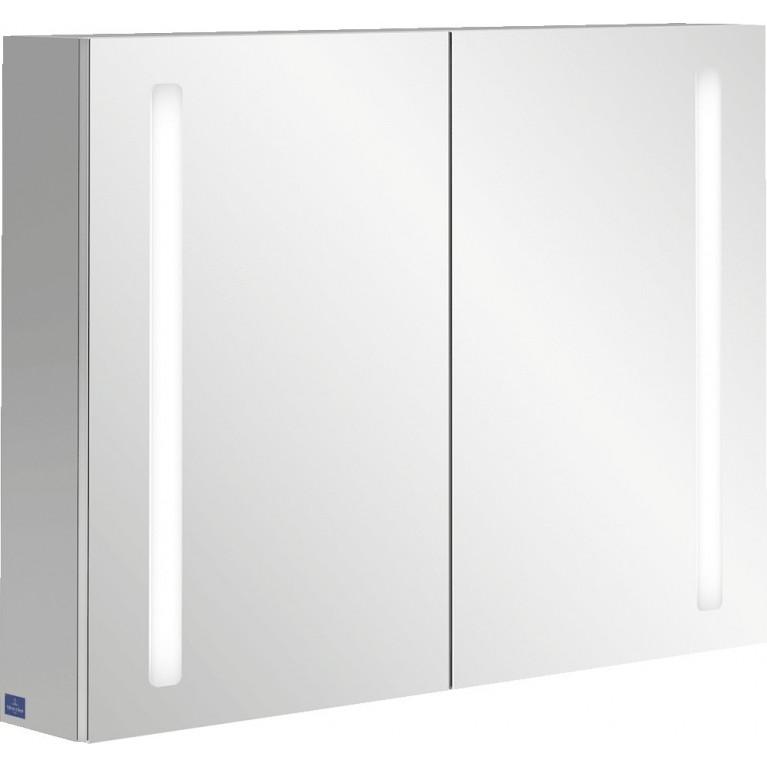 MY VIEW 14 шкаф зеркальный 100*75*17,3см, навесной, с подсветкой