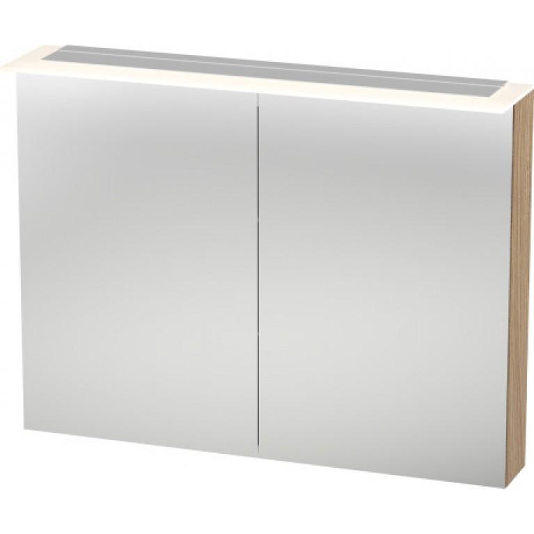 Шкафчик  HAPPY D.2 зеркальный с подсветкой, цвет дуб европейский (52)