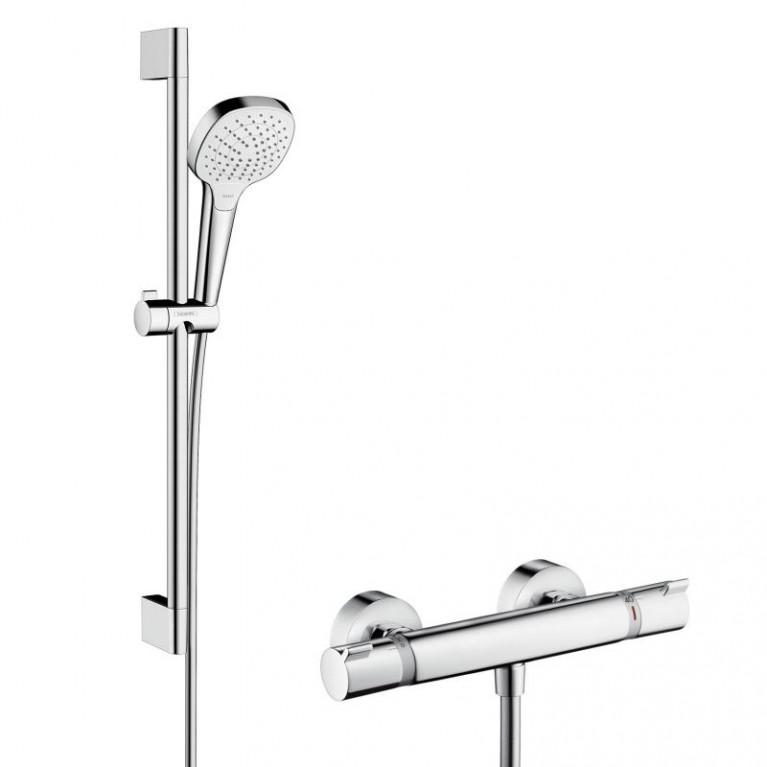 Croma Select E Vario Combi Душевой набор  0.65 м с термостатом, белый/хром, фото 1