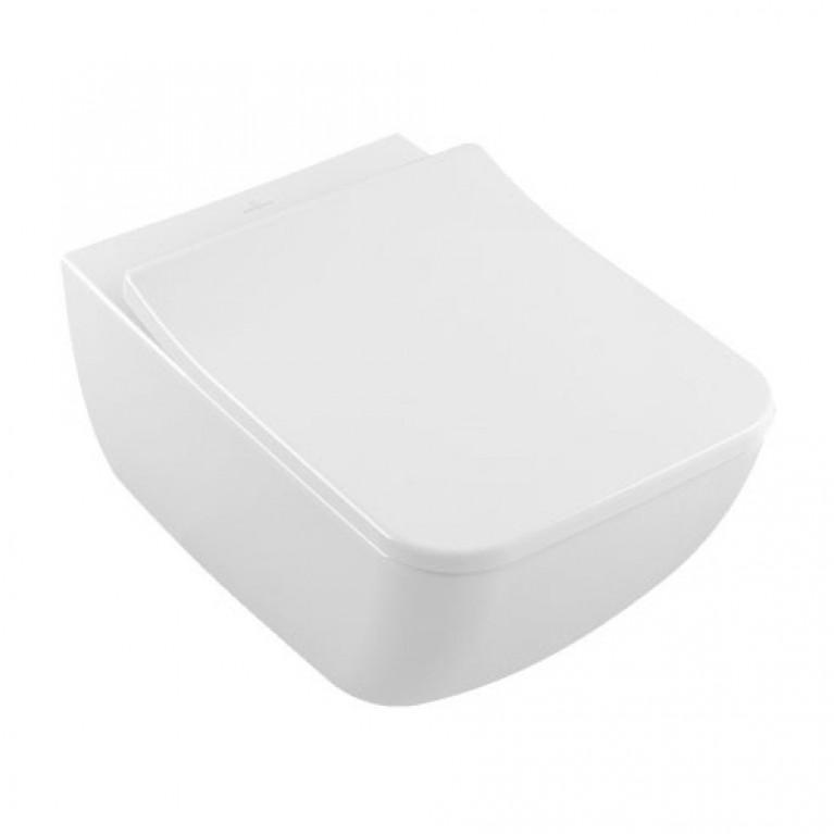 VENTICELLO унитаз 37,5*56см, вертикальный смыв, DirectFlush с сиденьем SlimSeat Line с QuickRelease и SoftClosing