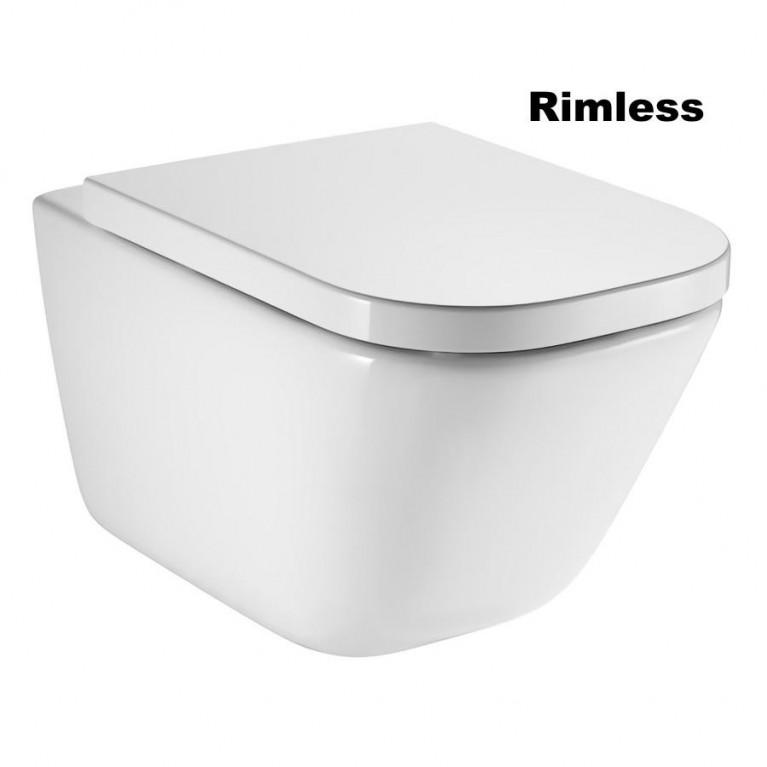 Унитаз подвесной GAP Rimless + сиденье