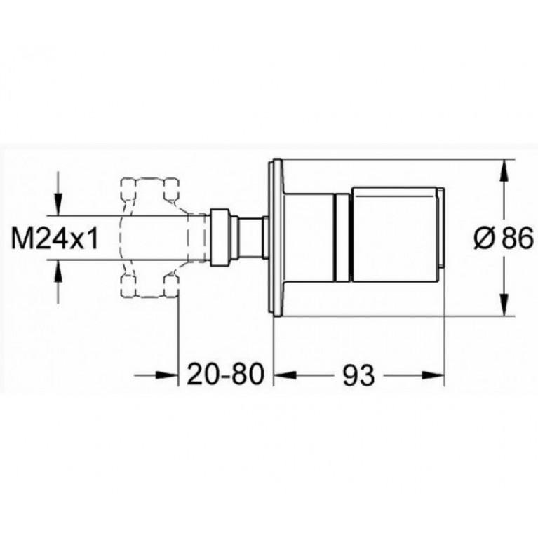 Grohtherm2000 New Накладная панель скрытой вентильной головки 19243000