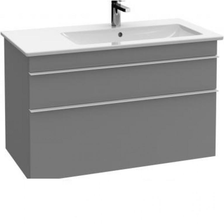 VENTICELLO тумба под умывальник 95,3*59*50,2см(ручка-вариант1-хром) цвет-glossy grey