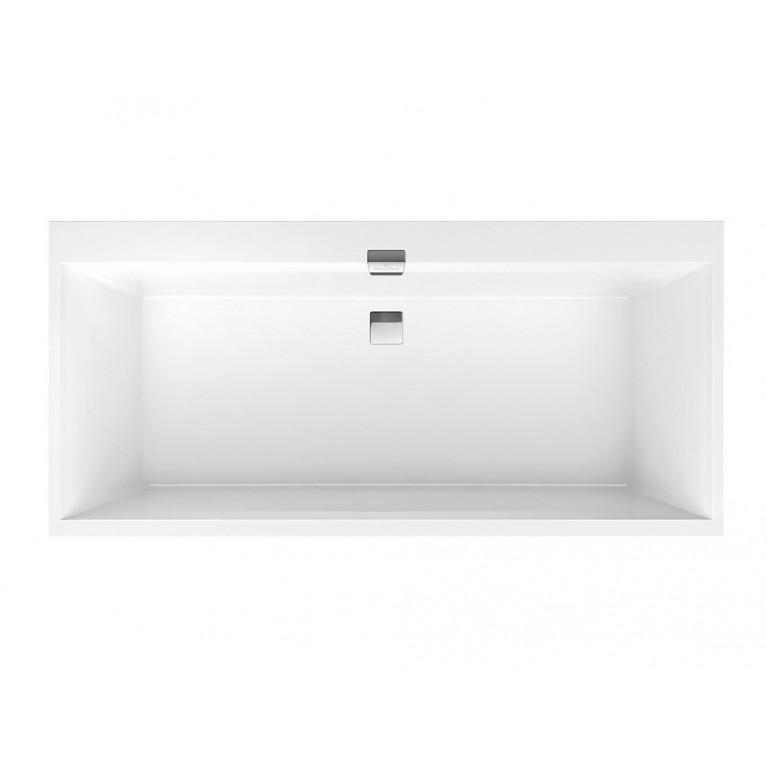 SQUARO EDGE 12 ванна 160*75см, с ножками, с комплектом слив/перелив