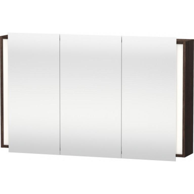 KETHO шкафчик 120*18см зеркальный, сенсорный выключатель, цвет темный каштан, фото 1