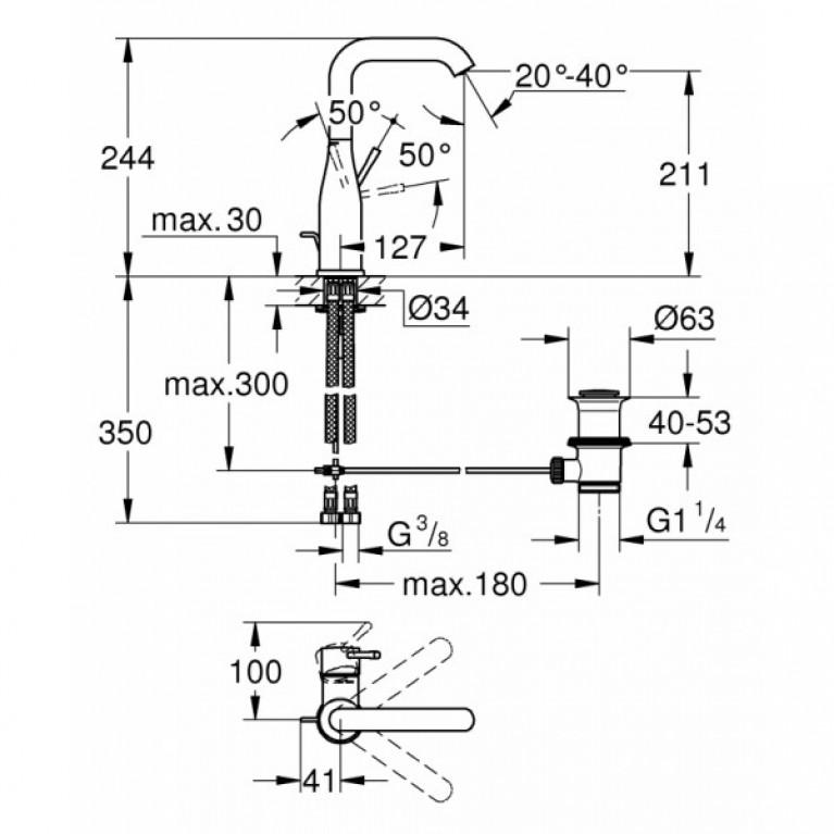 Essence New Смеситель для раковины, однорычажный, высокий 32628001, фото 2