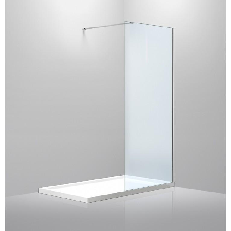 Стенка 900*1900 мм, прозрачное стекло 8мм+Профиль стеновой 1900мм для Walk-IN+Дepжaтель стекла (D) 1000мм