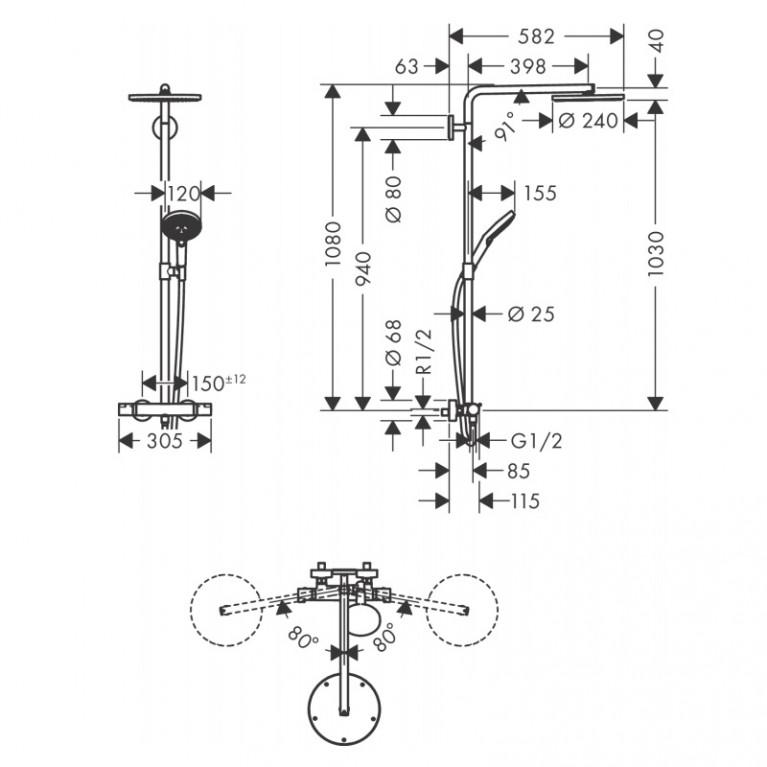 Raindance Select S Showerpipe Душевая система 27633000, фото 9