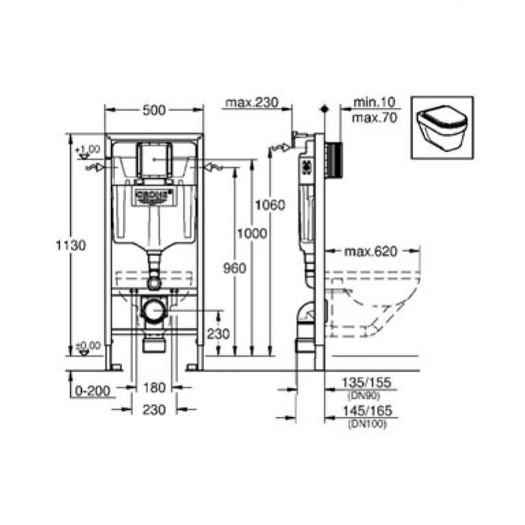 Rapid SL Инсталляционная система для унитаза 2в1 38536001, фото 2