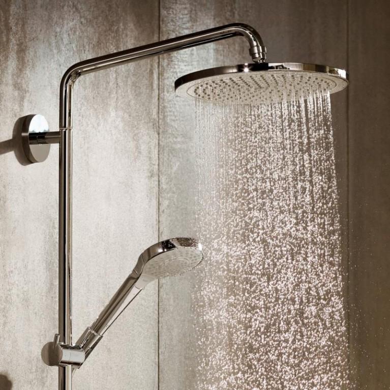 Croma Select S Душевая система Showerpipe 280 1jet, 9 л/мин с термостатом, версия EcoSmart, хром 26794000, фото 2