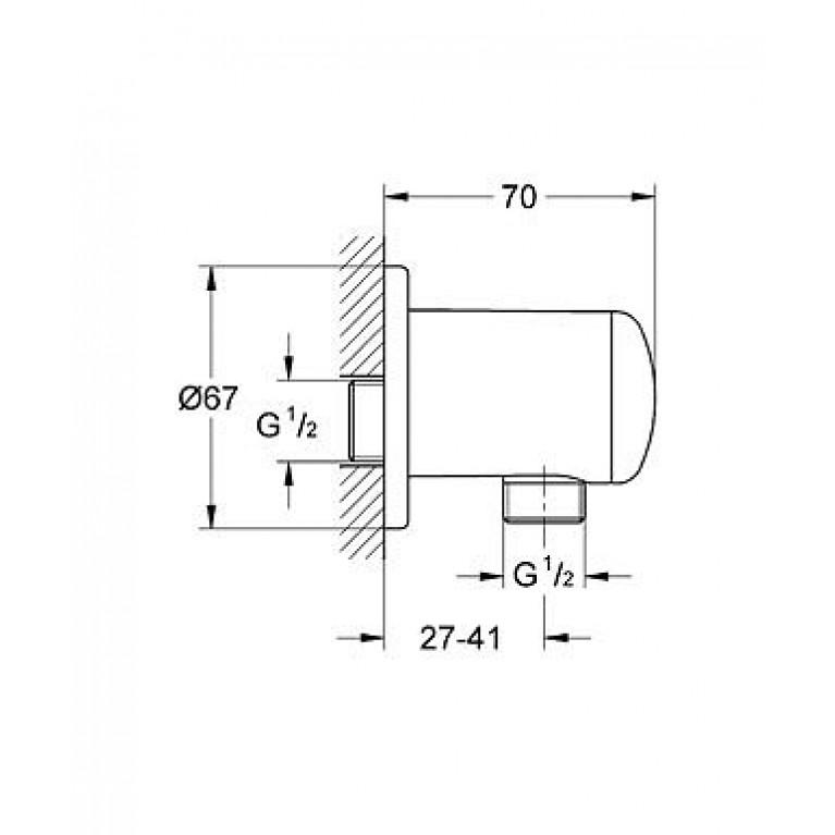 Relexa Plus Подключение для душевого шланга 28671000