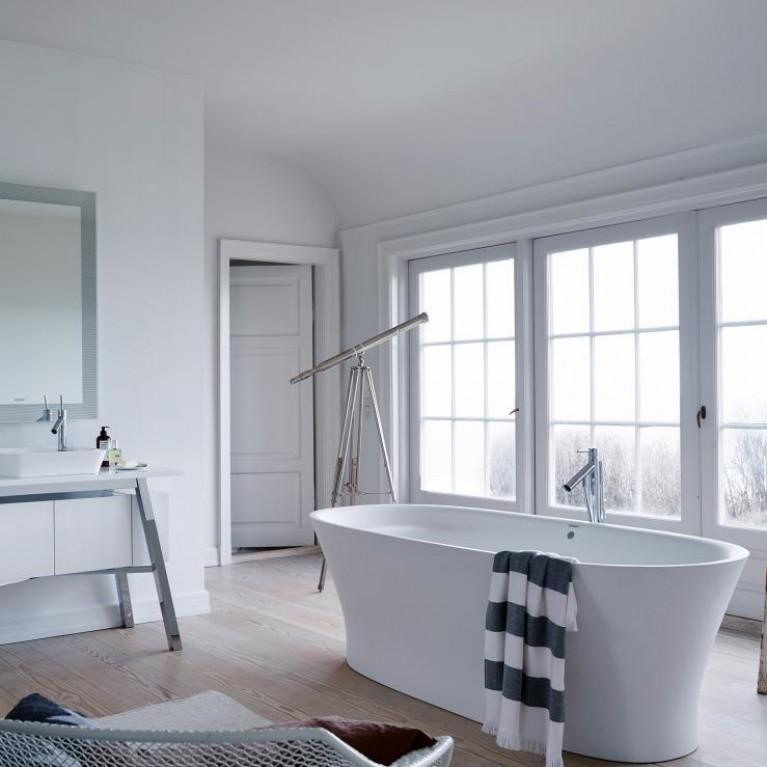 CAPE COD ванна 185,5*88,5*48,5см, отдельностоящая, с бесшовной панелью, ножками, с 1м наклоном для спины, со спец сливом и переливом 700330000000000, фото 3
