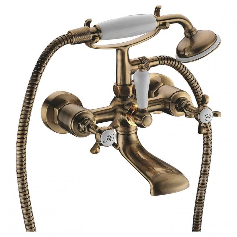 CUTHNA antiqua двухвентильный смеситель для ванны, бронза, фото 1