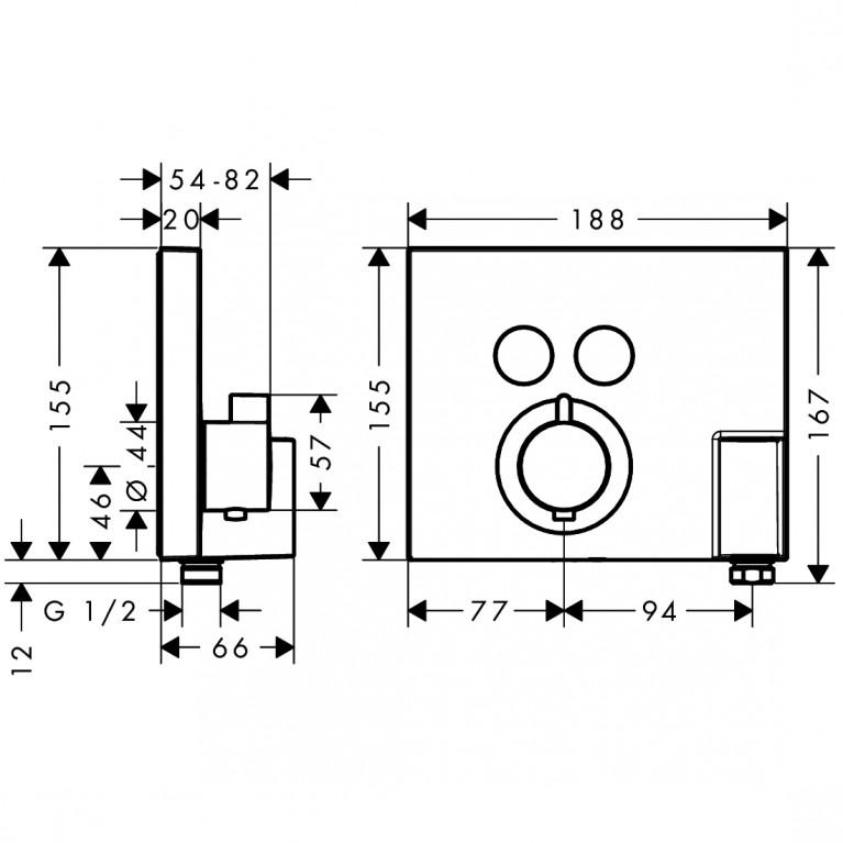 Shower Select Термостат для двух потребителей, СМ 15765000, фото 2