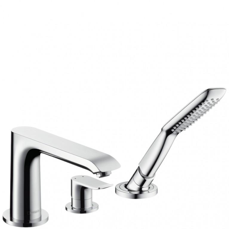 Metris Смеситель на край ванны, на 3 отверстия, ½'  хром
