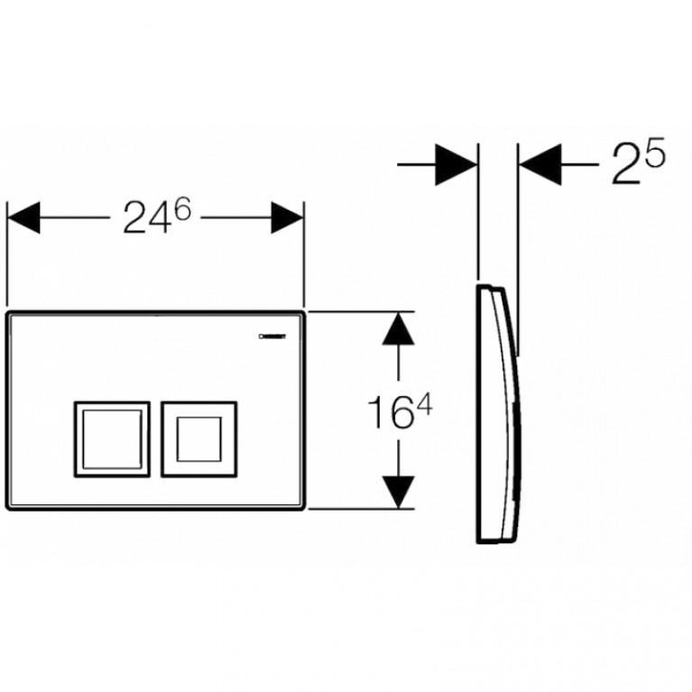 Delta 50 Смывная клавиша, пластик, хром глянц. 115.135.21.1