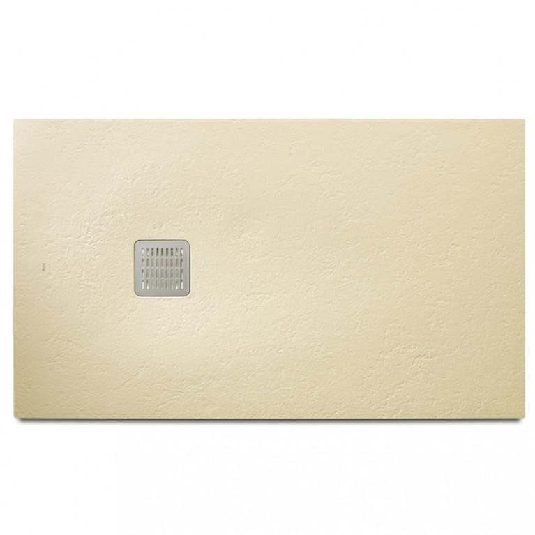 TERRAN поддон 160*80*3,1см, из искусств. камня STONEX, прямоугольный, с трапом и сифоном в комплекте, цвет кремовый