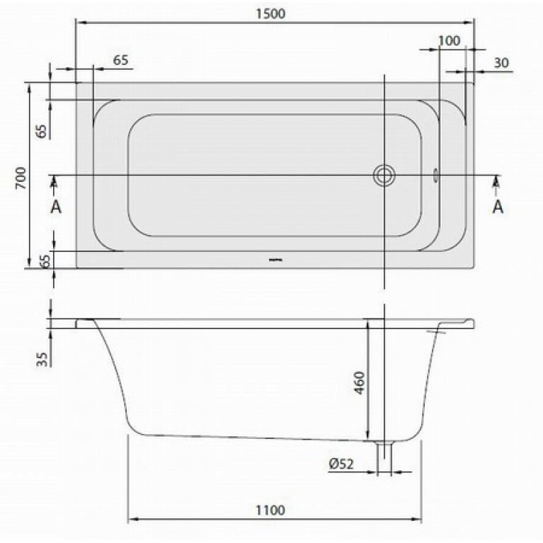 ARCHITECTURA ванна 150*70см, фото 2