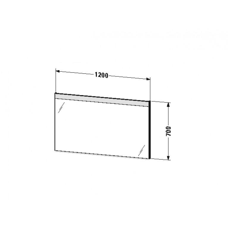 DURAVIT зеркало 120*3,5см, с подсветкой LM784800000, фото 2