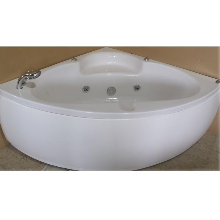 Ванна угловая с гидромассажем и пневмокнопкой 1400*1400*620 мм, со смесителем