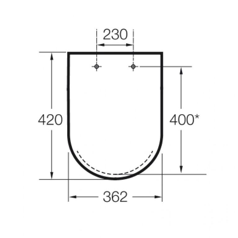 MERIDIAN-N компакт сиденье на унитаз (slow-closing ) A8012AC004